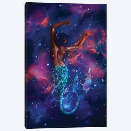 Dream Big Little Mermaid Canvas Print #SSZ39} by Stephanie Sanchez Canvas Print