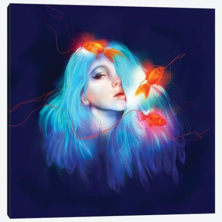 Blue Canvas Print #SSZ3} by Stephanie Sanchez Canvas Art