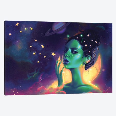 Galactic Canvas Print #SSZ40} by Stephanie Sanchez Canvas Wall Art