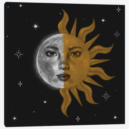 Part Sun And Moon Canvas Print #SSZ42} by Stephanie Sanchez Canvas Art