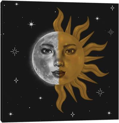 Part Sun And Moon Canvas Art Print