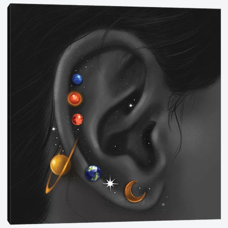 Celestial Piercings II Canvas Print #SSZ6} by Stephanie Sanchez Art Print