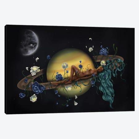 La Luna Sabes Todo Mi Secretos Canvas Print #SSZ8} by Stephanie Sanchez Canvas Art