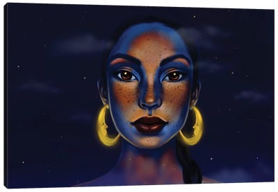 Moon And The Sky(Sade) Canvas Art Print