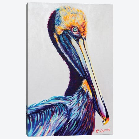 Perched Atop The Rising Tide Canvas Print #STA18} by Jen Starwalt Art Print