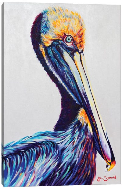Perched Atop The Rising Tide Canvas Art Print