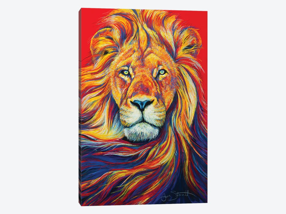African Lion 1-piece Art Print