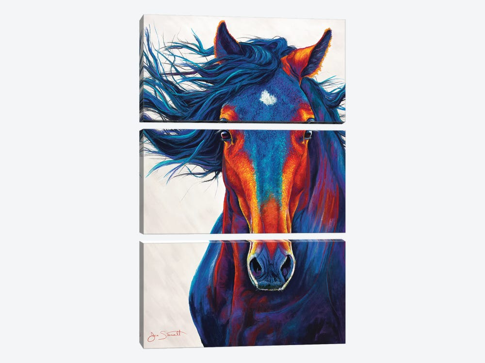 Wild Horse 3-piece Canvas Art Print