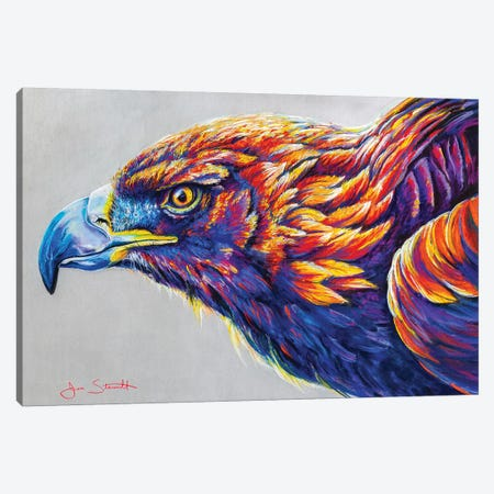 Golden Eagle Canvas Print #STA8} by Jen Starwalt Canvas Art Print
