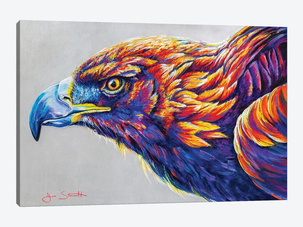 Golden Eagle by Jen Starwalt 1-piece Canvas Wall Art