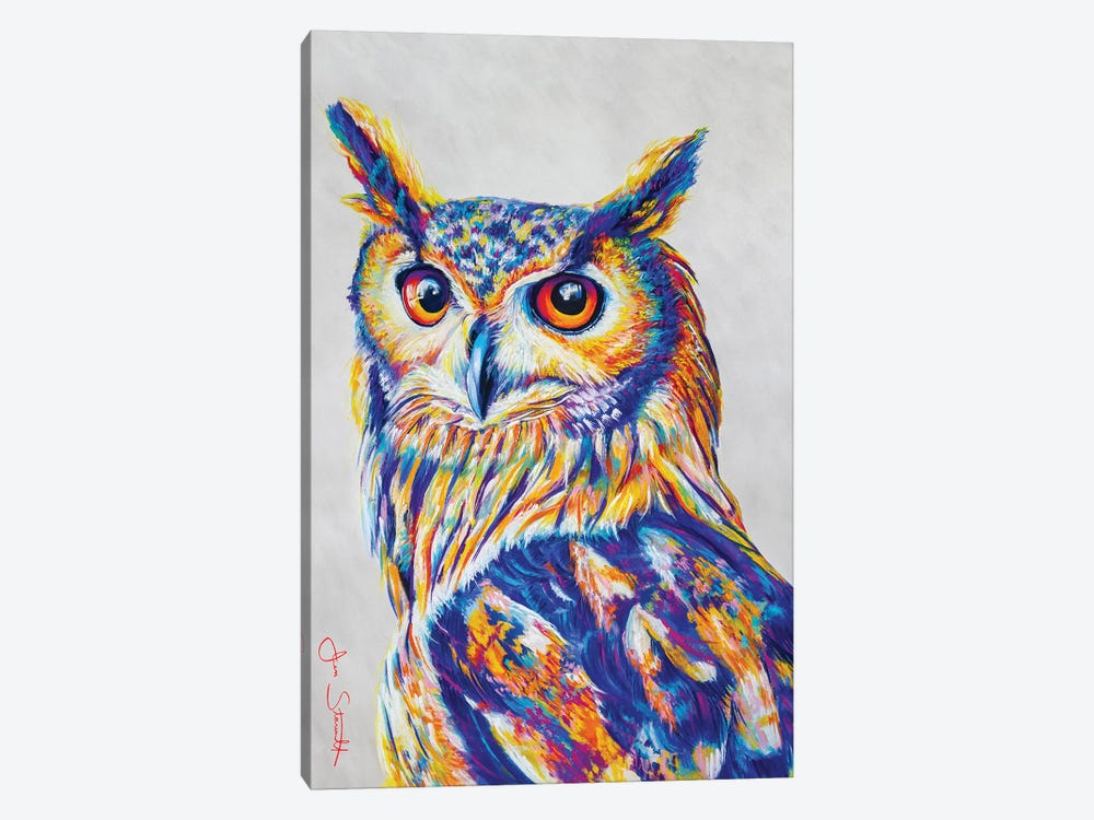Great Horned Owl by Jen Starwalt 1-piece Canvas Print