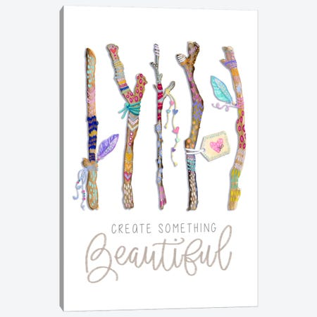 Create Something Beautiful: Boho Twigs Canvas Print #STC100} by Stephanie Corfee Art Print