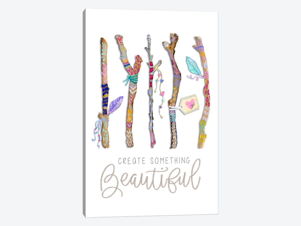 Create Something Beautiful: Boho Twigs by Stephanie Corfee 1-piece Canvas Artwork