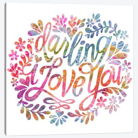 Darling I Love You Canvas Print #STC101} by Stephanie Corfee Canvas Print
