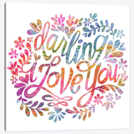 Darling I Love You Canvas Print #STC101} by Stephanie Corfee Canvas Print