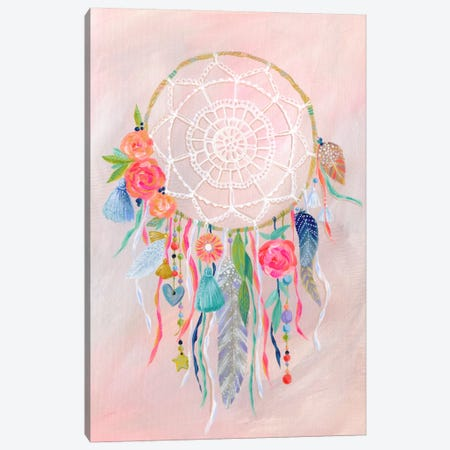 Dreamcatcher, Blush Canvas Print #STC102} by Stephanie Corfee Art Print