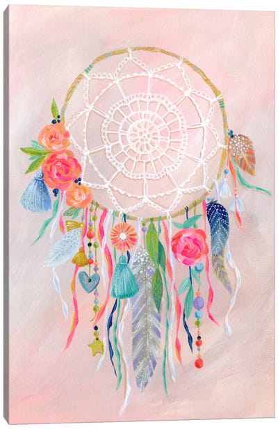 Dreamcatcher, Blush Canvas Art Print