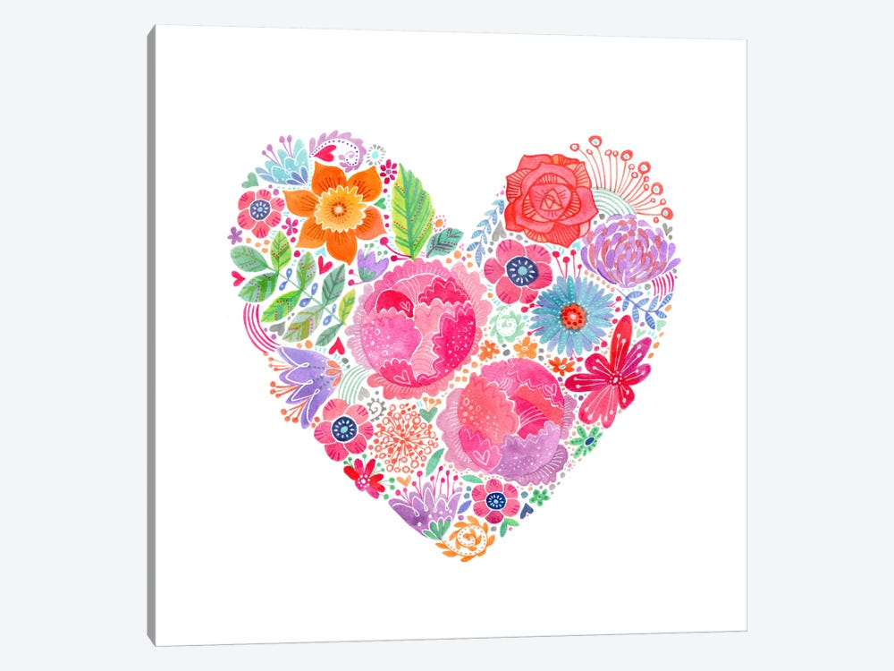 Floral Heart by Stephanie Corfee 1-piece Art Print