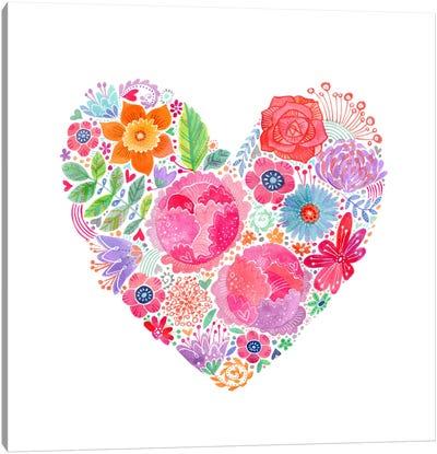 Floral Heart Canvas Art Print