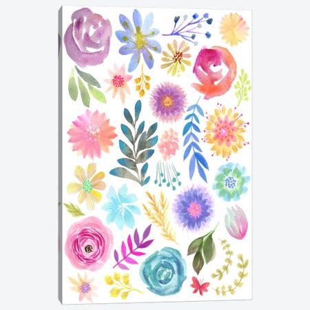 Floral Sampler Canvas Print #STC109} by Stephanie Corfee Art Print