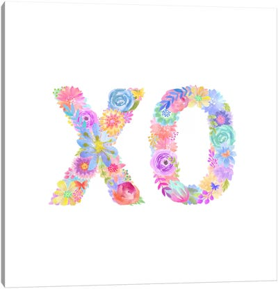 Floral XO Canvas Art Print