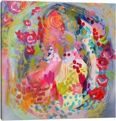 Flower Bath Canvas Art Print