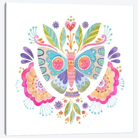 Fly Free Butterfly Canvas Print #STC115} by Stephanie Corfee Canvas Art Print