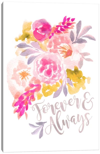 Forever & Always Canvas Art Print