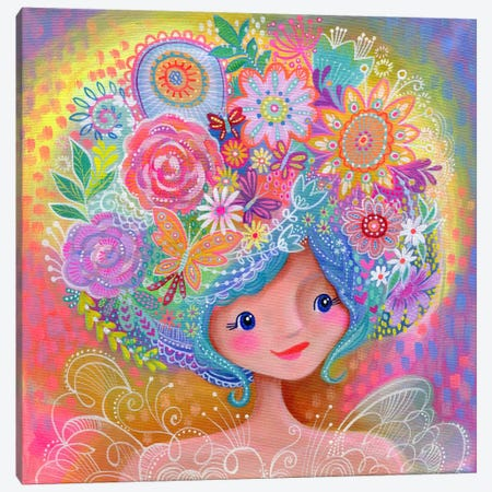 Garden Fairy Canvas Print #STC117} by Stephanie Corfee Canvas Art Print