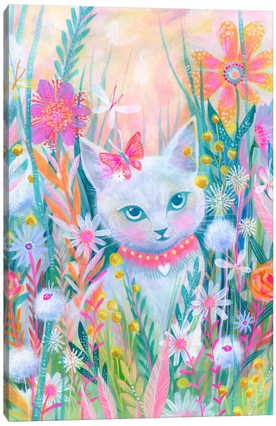Garden Kitty Canvas Art Print