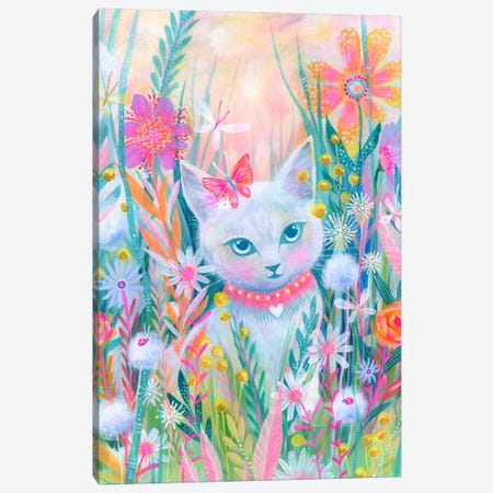 Garden Kitty Canvas Print #STC118} by Stephanie Corfee Canvas Art
