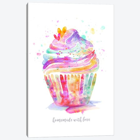 Homemade With Love Cupcake Canvas Print #STC122} by Stephanie Corfee Canvas Print