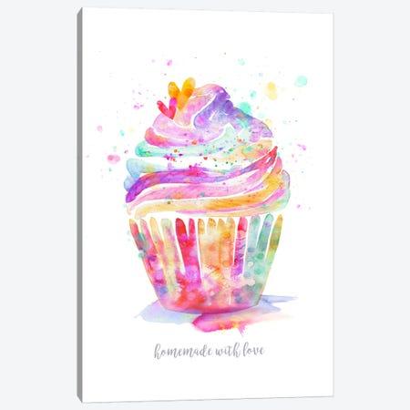 Homemade With Love Cupcake Canvas Print #STC122} by Stephanie Corfee Canvas Print