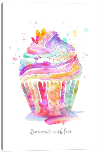Homemade With Love Cupcake Canvas Art Print