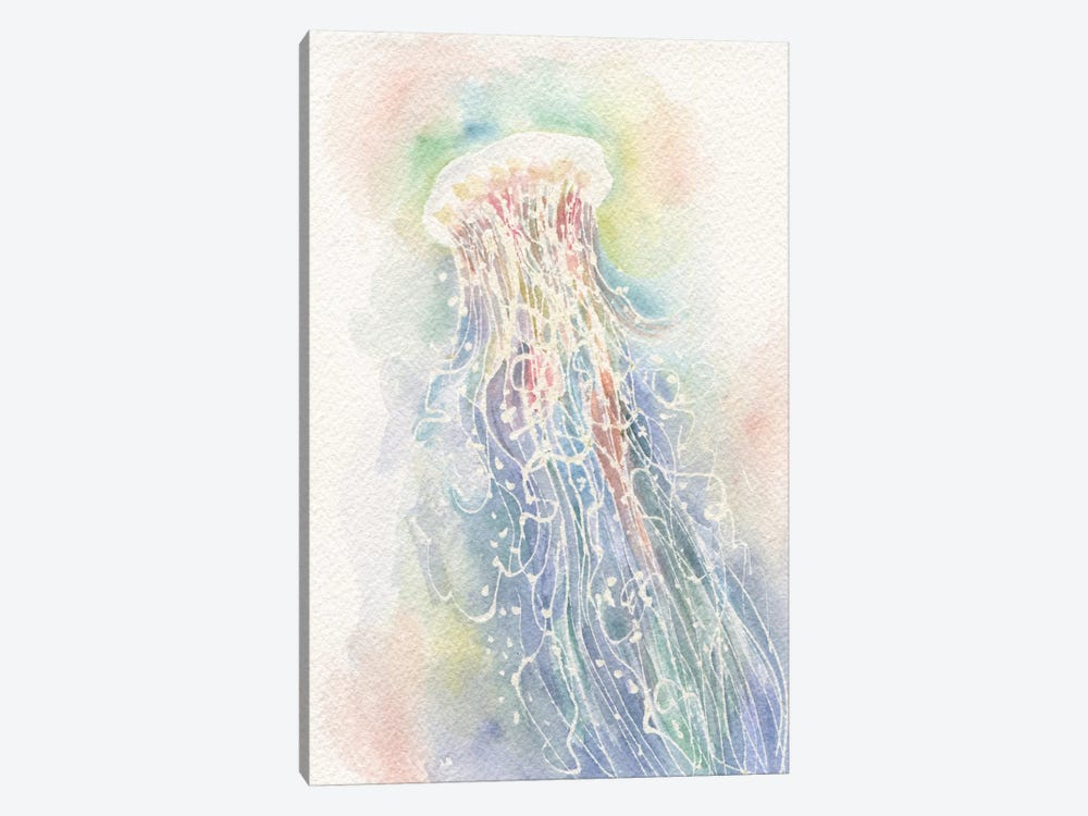 Jellyfish Watercolor by Stephanie Corfee 1-piece Canvas Wall Art