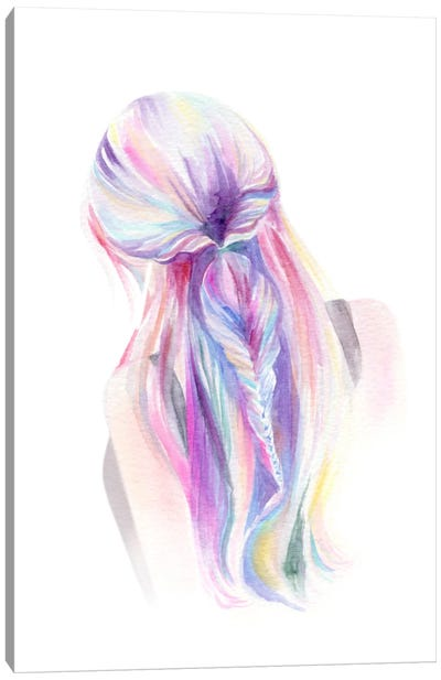 Mermaid Braid Canvas Art Print
