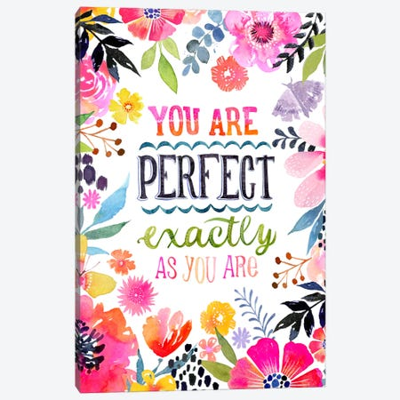 Perfect As You Are Canvas Print #STC140} by Stephanie Corfee Canvas Print