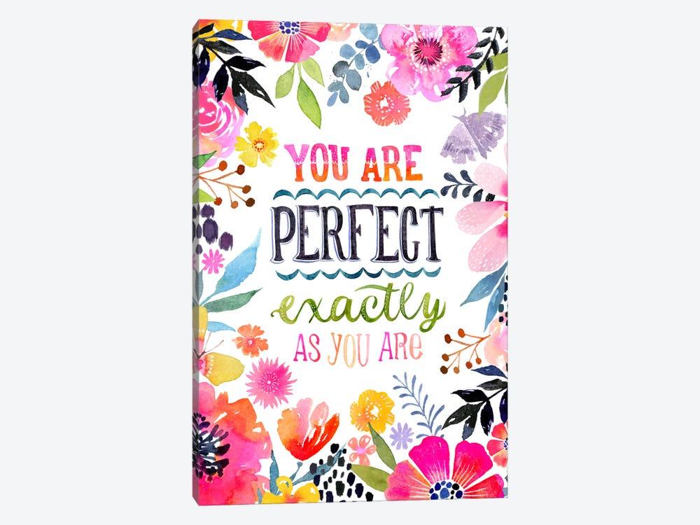 Perfect As You Are by Stephanie Corfee 1-piece Canvas Artwork