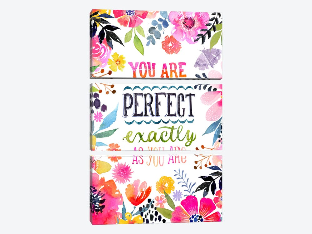 Perfect As You Are by Stephanie Corfee 3-piece Canvas Wall Art