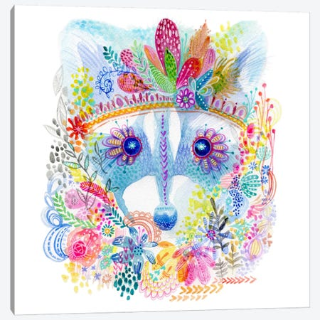 Pixie Raccoon Canvas Print #STC141} by Stephanie Corfee Canvas Art Print