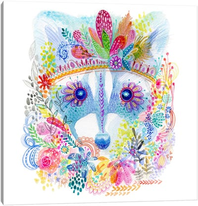 Pixie Raccoon Canvas Art Print