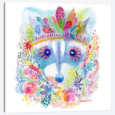 Pixie Raccoon Canvas Print #STC141} by Stephanie Corfee Canvas Art Print