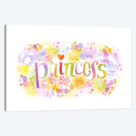 Princess Nickname Canvas Print #STC142} by Stephanie Corfee Art Print