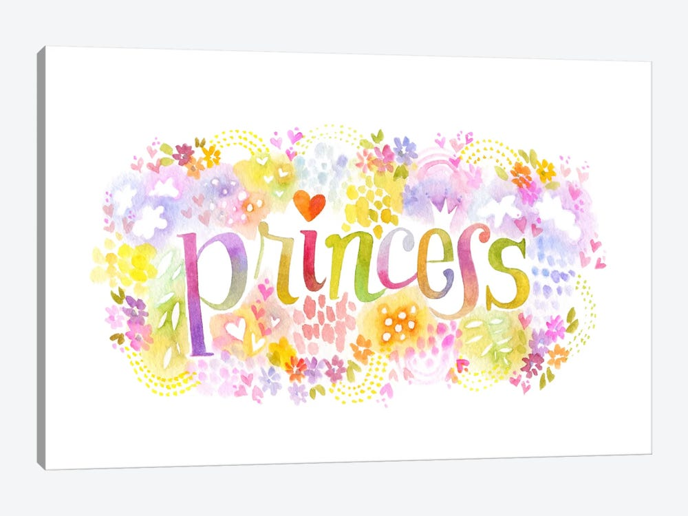 Princess Nickname by Stephanie Corfee 1-piece Canvas Wall Art