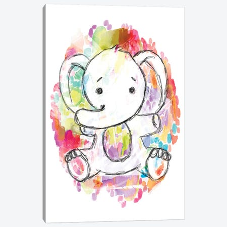 Sketchy Elephant Canvas Print #STC147} by Stephanie Corfee Canvas Wall Art