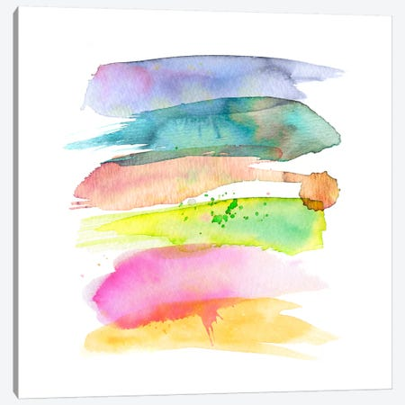 Stacked Watercolor Swooshes Canvas Print #STC148} by Stephanie Corfee Art Print