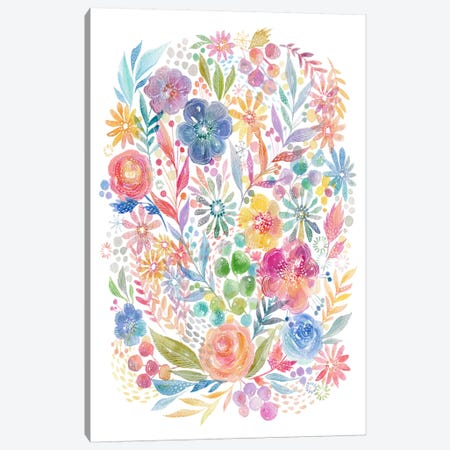 Summer Flowers Canvas Print #STC149} by Stephanie Corfee Canvas Print