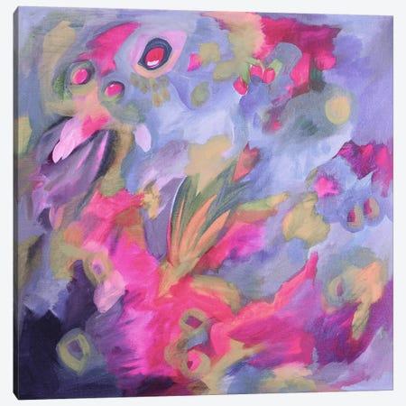 Violet Shock 3-Piece Canvas #STC152} by Stephanie Corfee Canvas Artwork