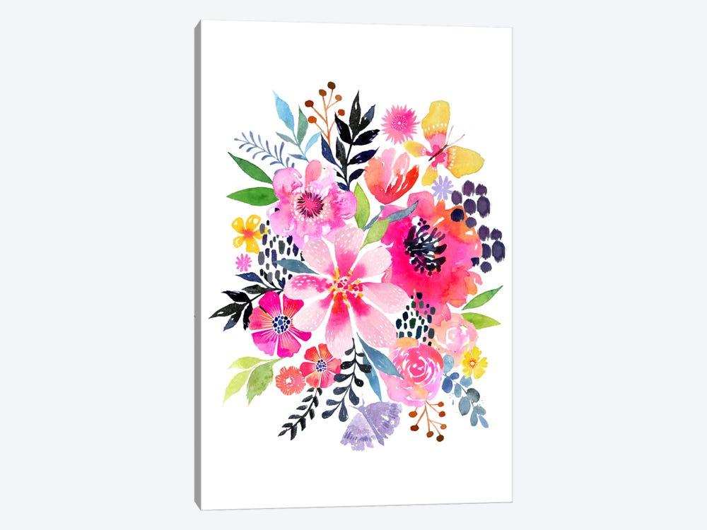 Watercolor Floral Burst by Stephanie Corfee 1-piece Art Print