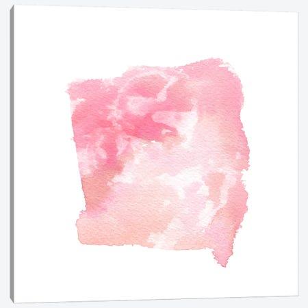 Watercolor Shapes, Blush Canvas Print #STC156} by Stephanie Corfee Canvas Print